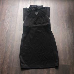 Forever 21 sheer cutout black dress